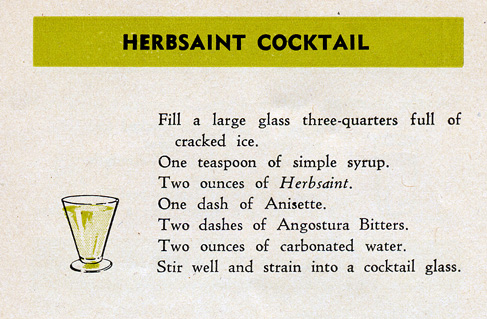 Herbsaint Cocktail