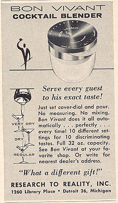 The Bon Vivant Cocktail Blender