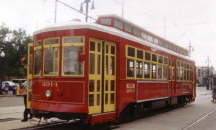 The new Canal Street streetcars.