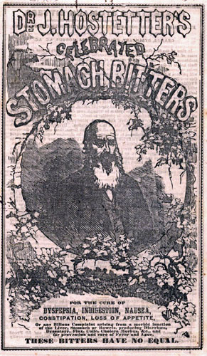 Hostetter's Stomach Bitters ad, 19th Century