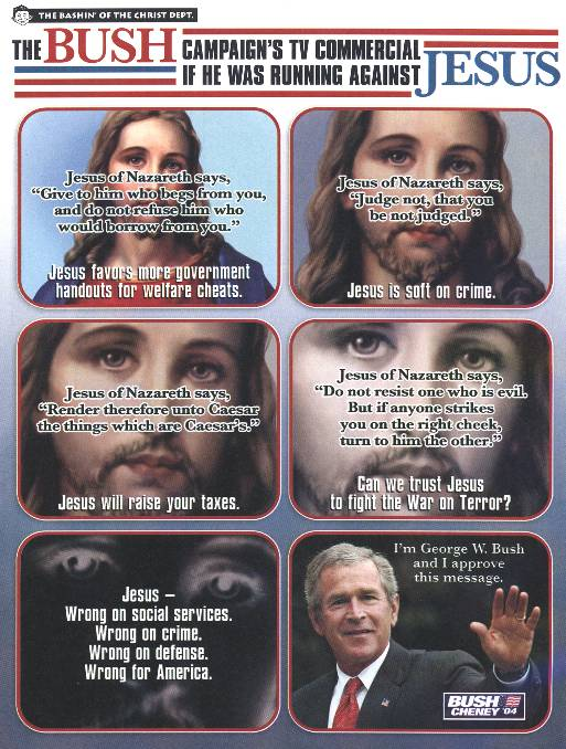 Bush vs. Jesus
