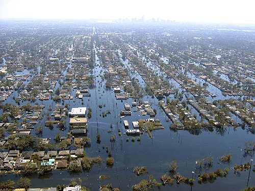Flooding in New Orleans, courtesy of the U.S. Army Corps of Engineers