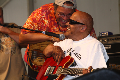George  Porter Jr. with Snooks Eaglin - Photo by Jef Jaisun