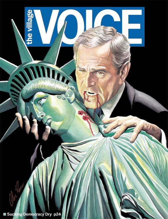 Bush, sucking democracy dry