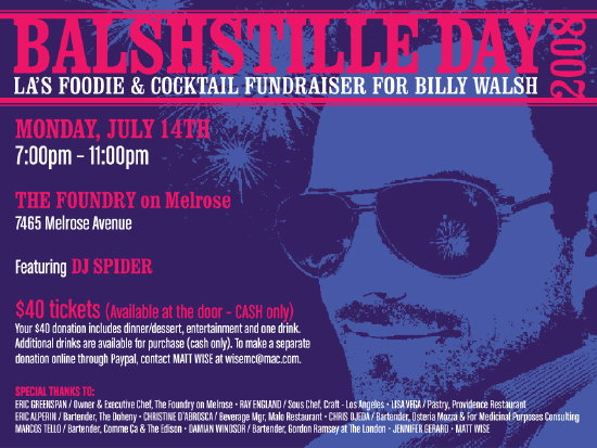 Fundraiser for Billy Walsh