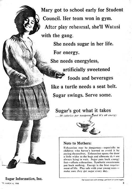 1966 sugar ad in TIME magazine