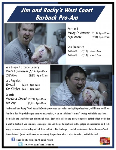 Jim and Rocky's Barback Pro-Am flier