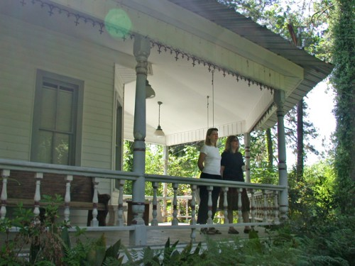 Mary and Robin and a serene afternoon at the Seale Guest House in Eunice, LA